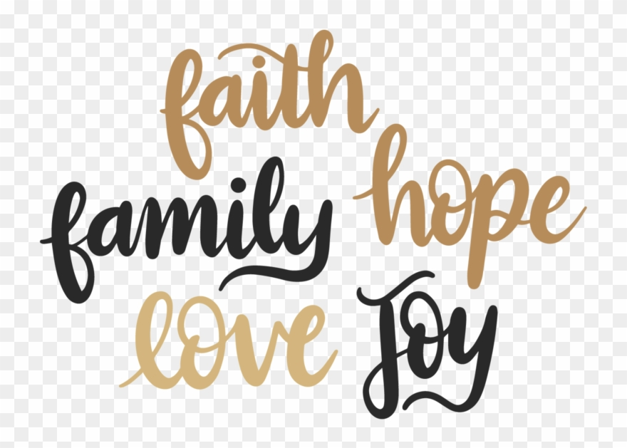 I Love Family Png - Clip Art Royalty Free Library Hope Love Digital Download - Faith ...