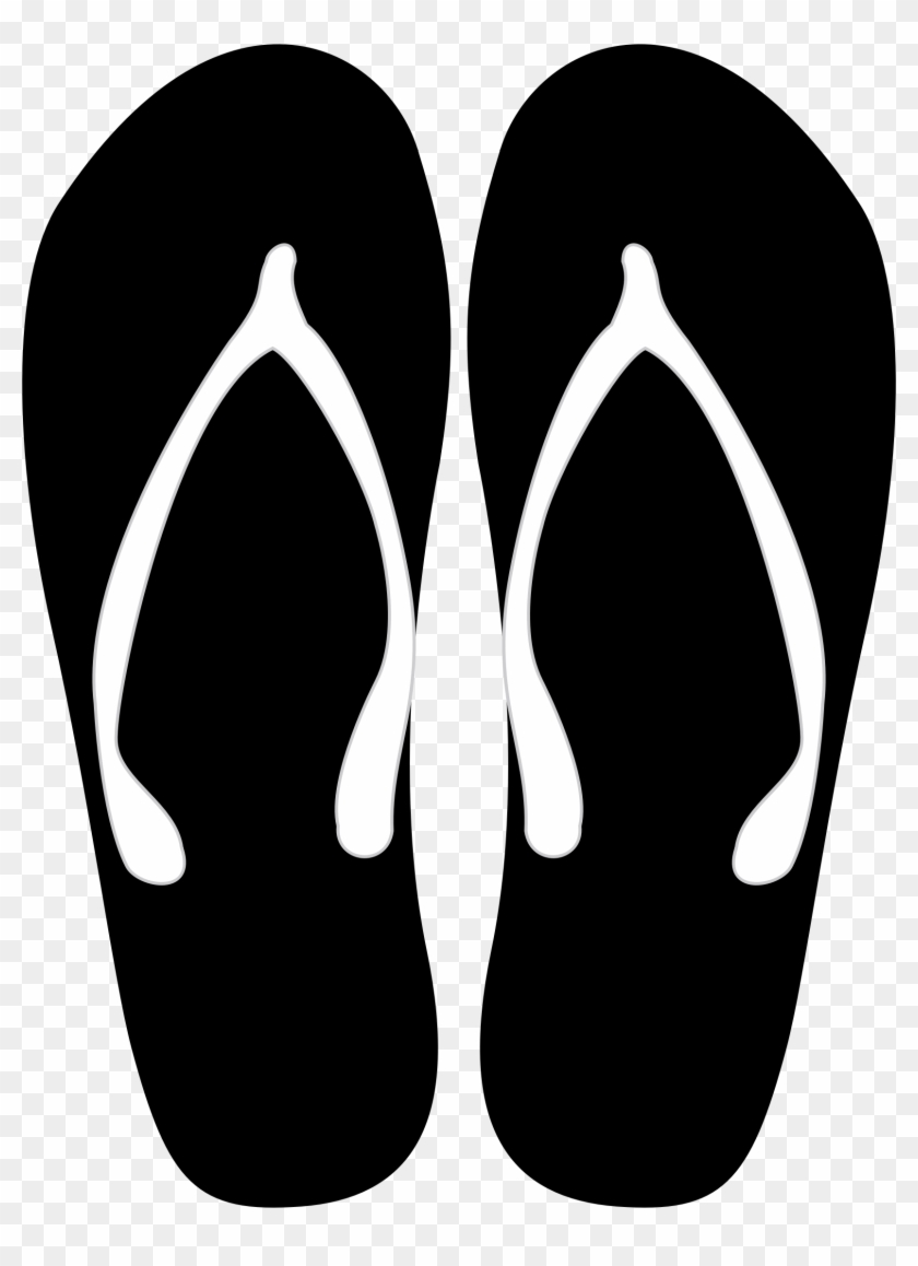 Black And White Flip Flops Png - Clip Arts Related To - Flip Flops Vector Png - Free Transparent ...