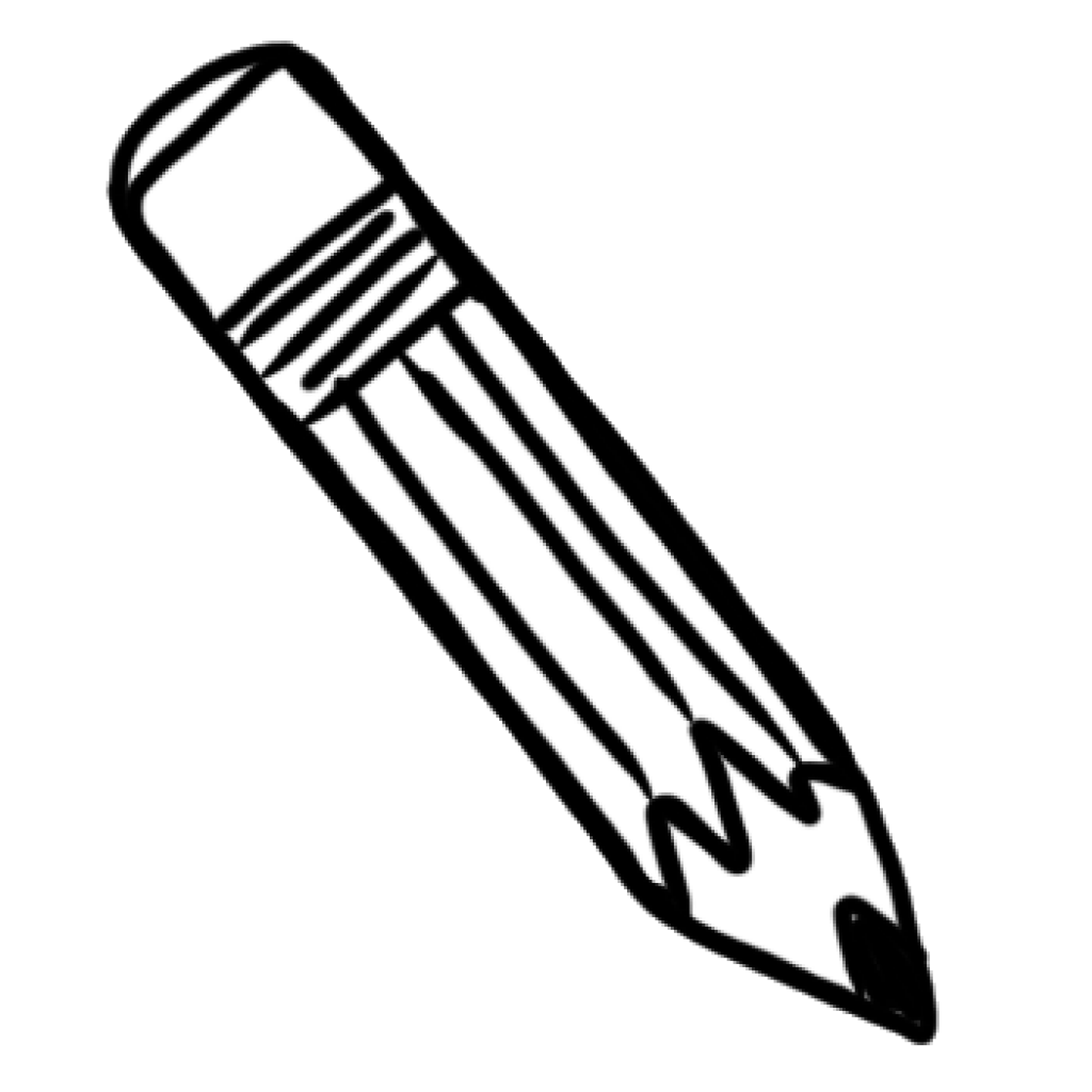 black and white png of pencil & transparent images #3460 - pngio