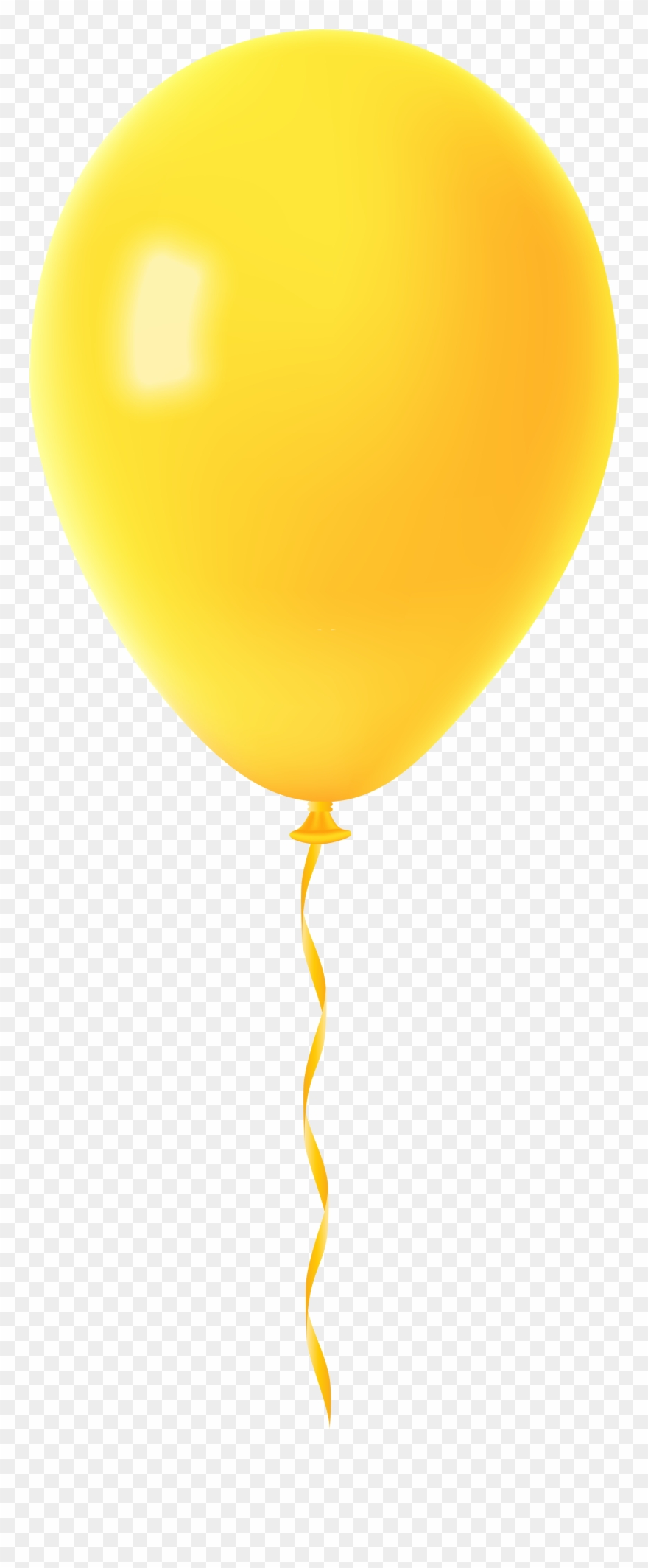 Yellow Balloons Png - Clipart Black And White Balloon Transparent Png Clip - Yellow ...