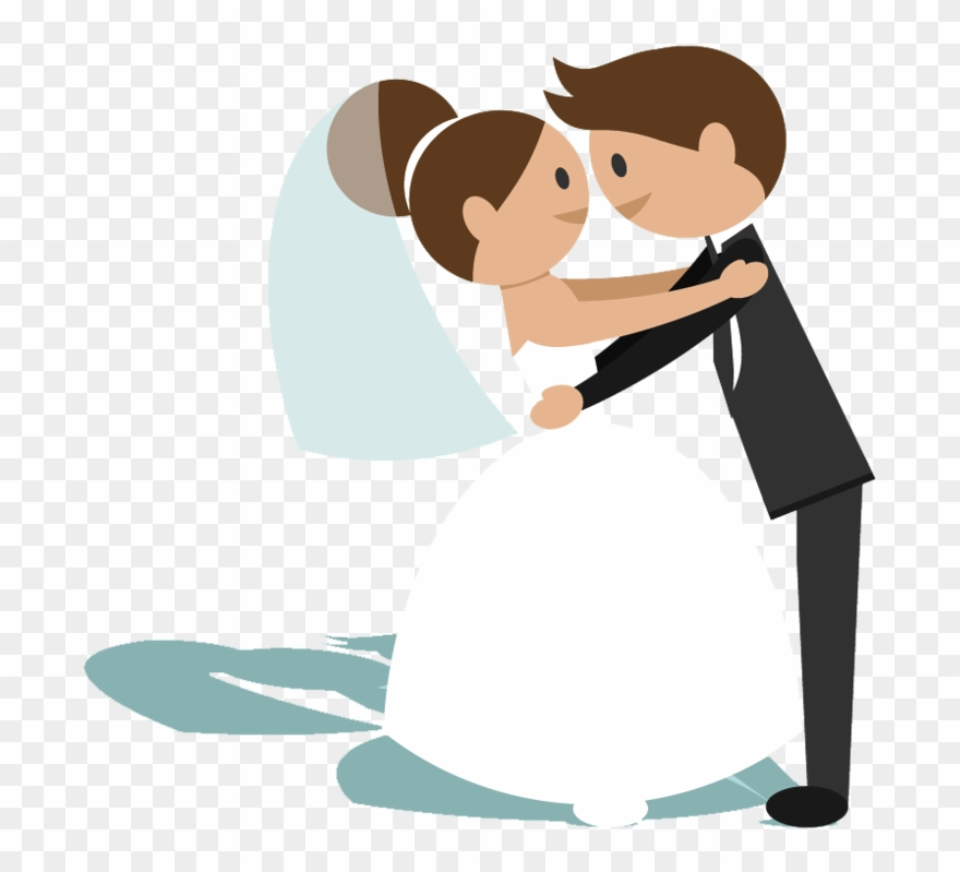 Bride And Groom Cartoon Png - Clipart Bride And Groom Animation - Png Download (#166500 ...