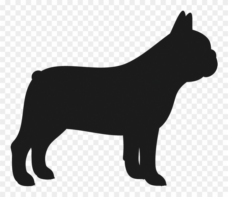 Mean Bulldog Png - Clipart Dogs Bulldog - French Bulldog Silhouette Transparent - Png ...