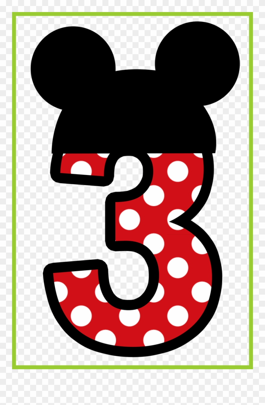 Mickey Mouse Number Png - Clipart Shoes Minnie - Mickey Mouse Number 2 - Png Download ...