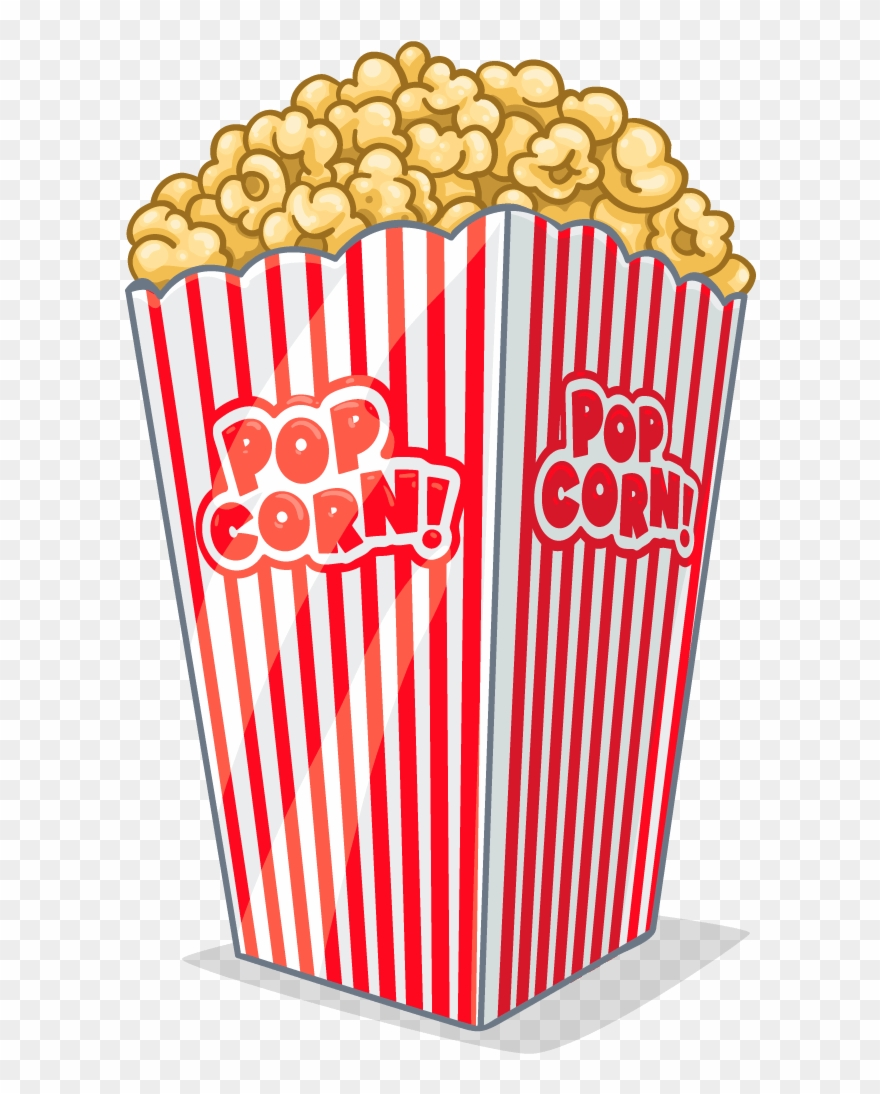 Popcorn No Background - Clipart Tv And Popcorn - Transparent Background Popcorn Clip Art ...