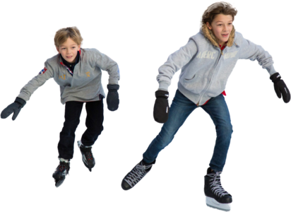 Boy Ice Skaters Png - Clipped
