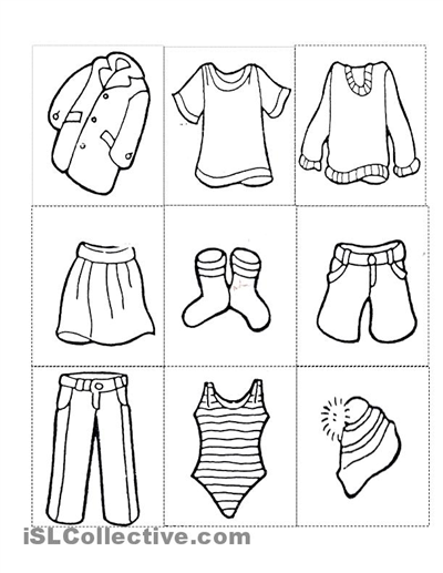 Clothes Worksheet Png - Clothes Free Printable Kindergarten Worksheets | english grammer ...