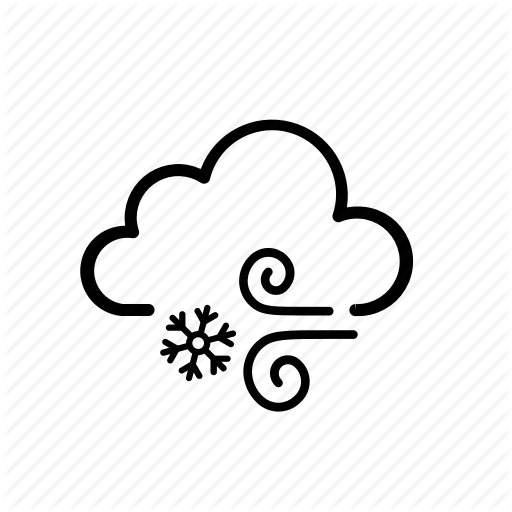 Cold And Windy Png - Cloud, cold, cool, snow, weather, windy icon