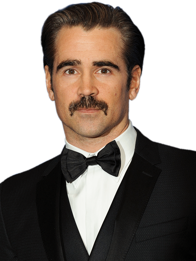 Farrell Png - Colin Farrell With Mustache transparent PNG - StickPNG