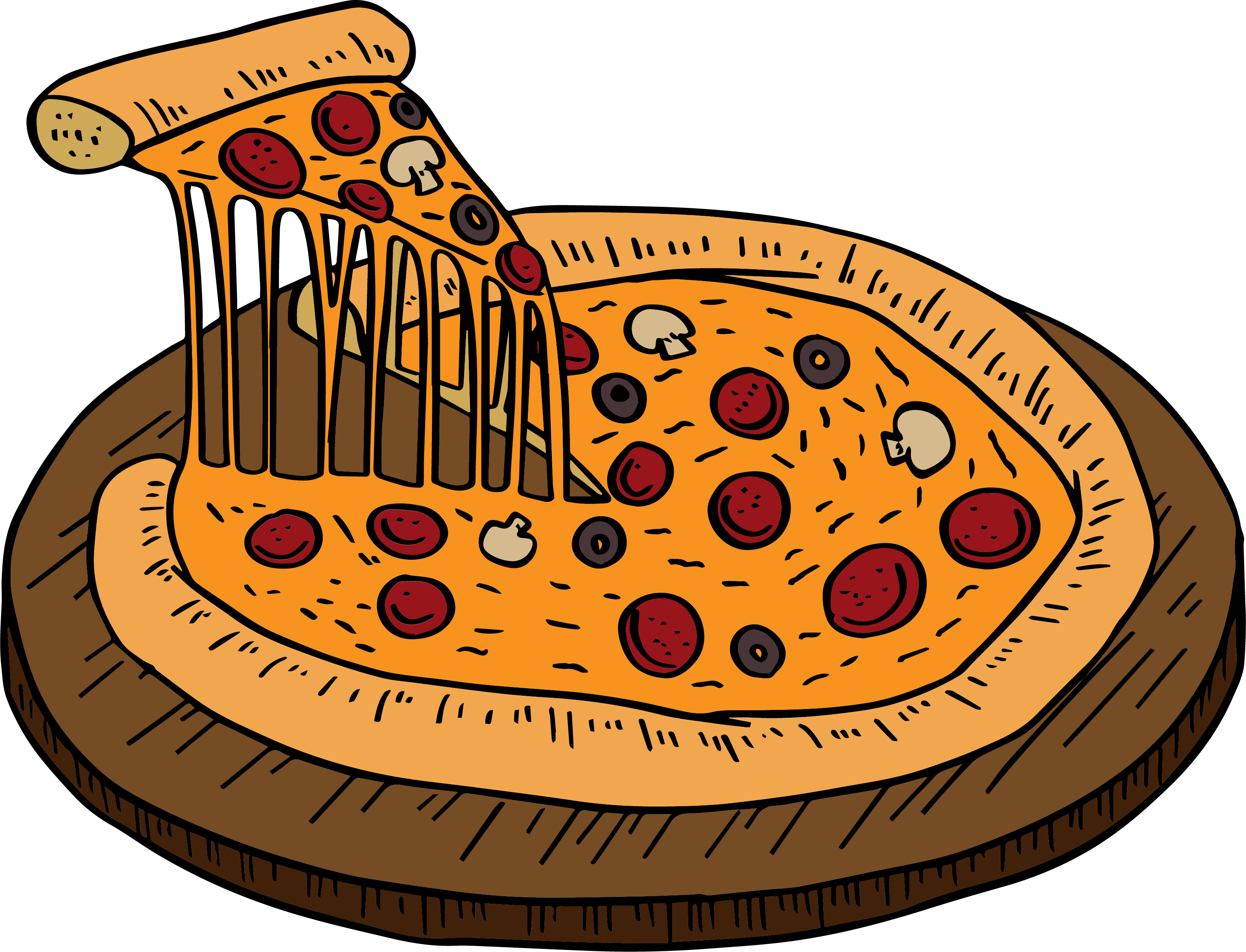 Pizza Vector Png - Collection of free Pizza vector hand. Download on UI Ex