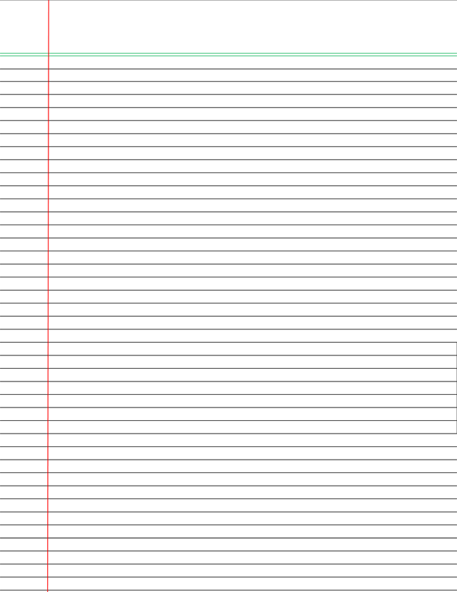 This is a picture of Notebook Paper Printable pertaining to numbered