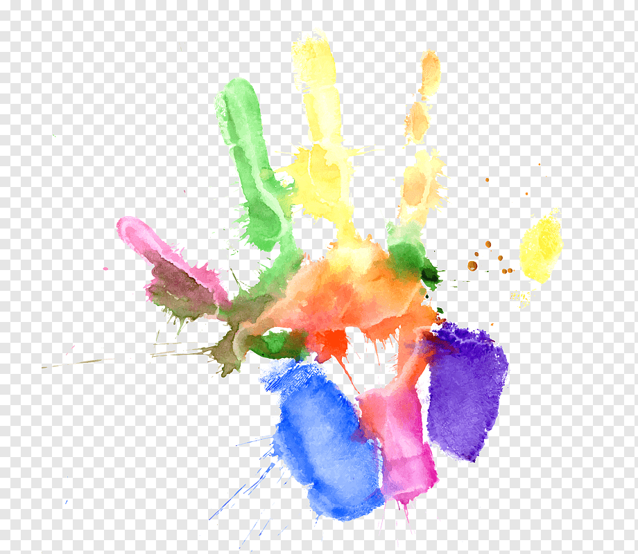 Hand Painted Wallpaper Png - Color, watercolor hand painted, child, hand, computer Wallpaper ...