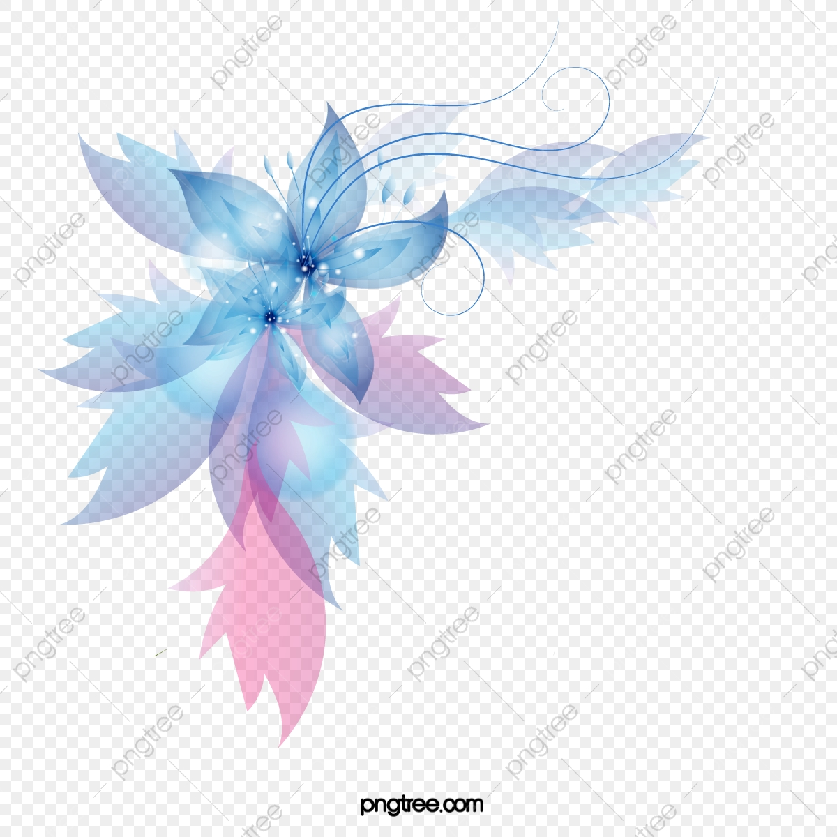 Blue Abstract Flowers Png - Colorful Abstract Flowers, Abstract, Bright, Flowers PNG ...