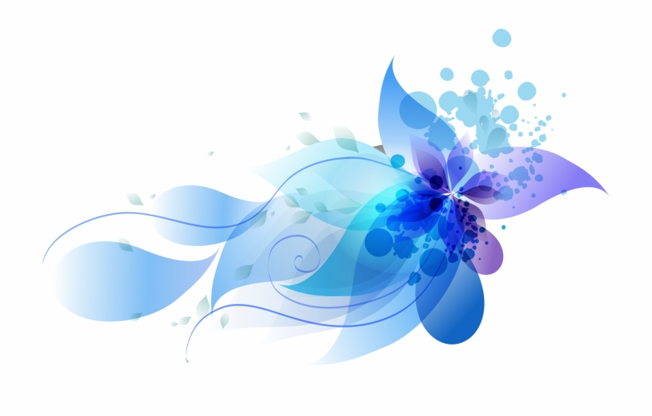 Blue Abstract Flowers Png - Colorful Abstract Flowers - Abstract Flower Png Free, Transparent ...
