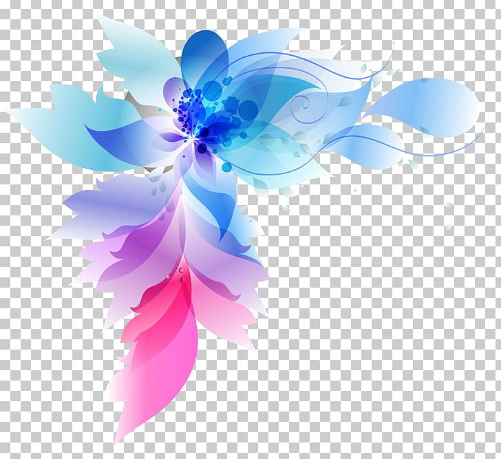 Blue Abstract Flowers Png - Colorful Abstract Flowers PNG, Clipart, Abstract, Abstract Lines ...