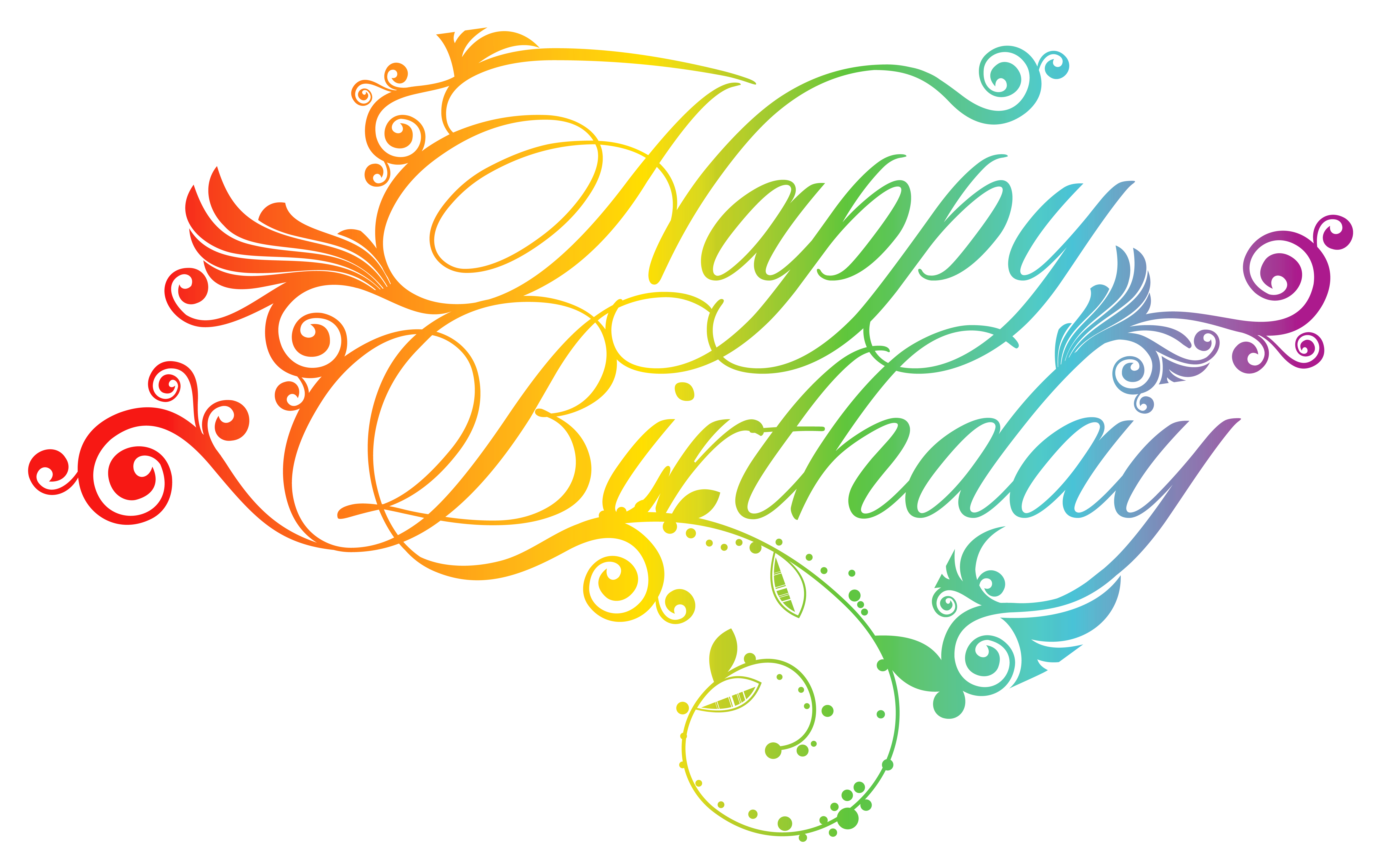 Happy Birthday Png - Colorful Happy Birthday PNG Clipart Picture