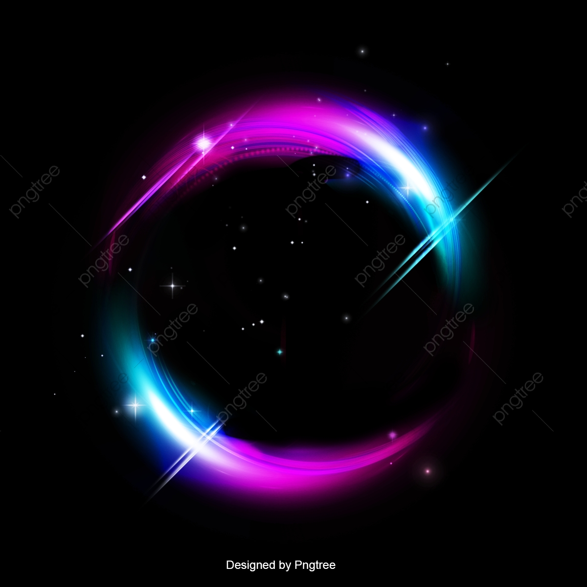 Purple And Black Backgrounds Png - Colorful Light Effect On Black Background, Beautiful, Highlight ...