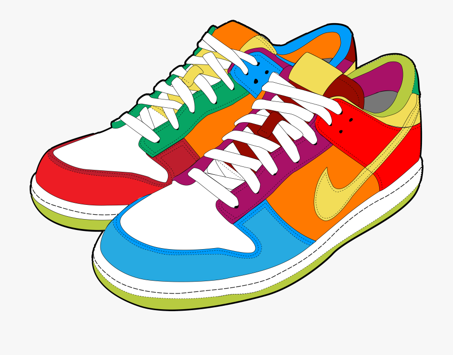 Shoes Clipart Png - Colorful Sneakers Png Clipart - Shoes Clipart, Cliparts & Cartoons ...