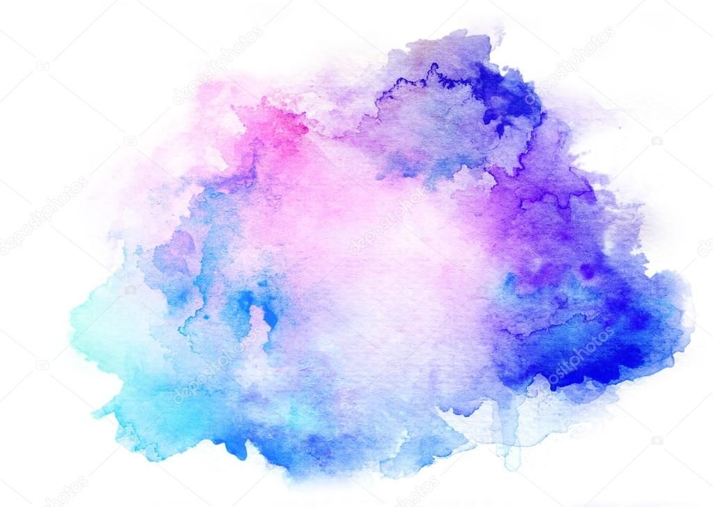 Watercolor Splash Background - Colorful watercolor drawing for use in artistic background ...