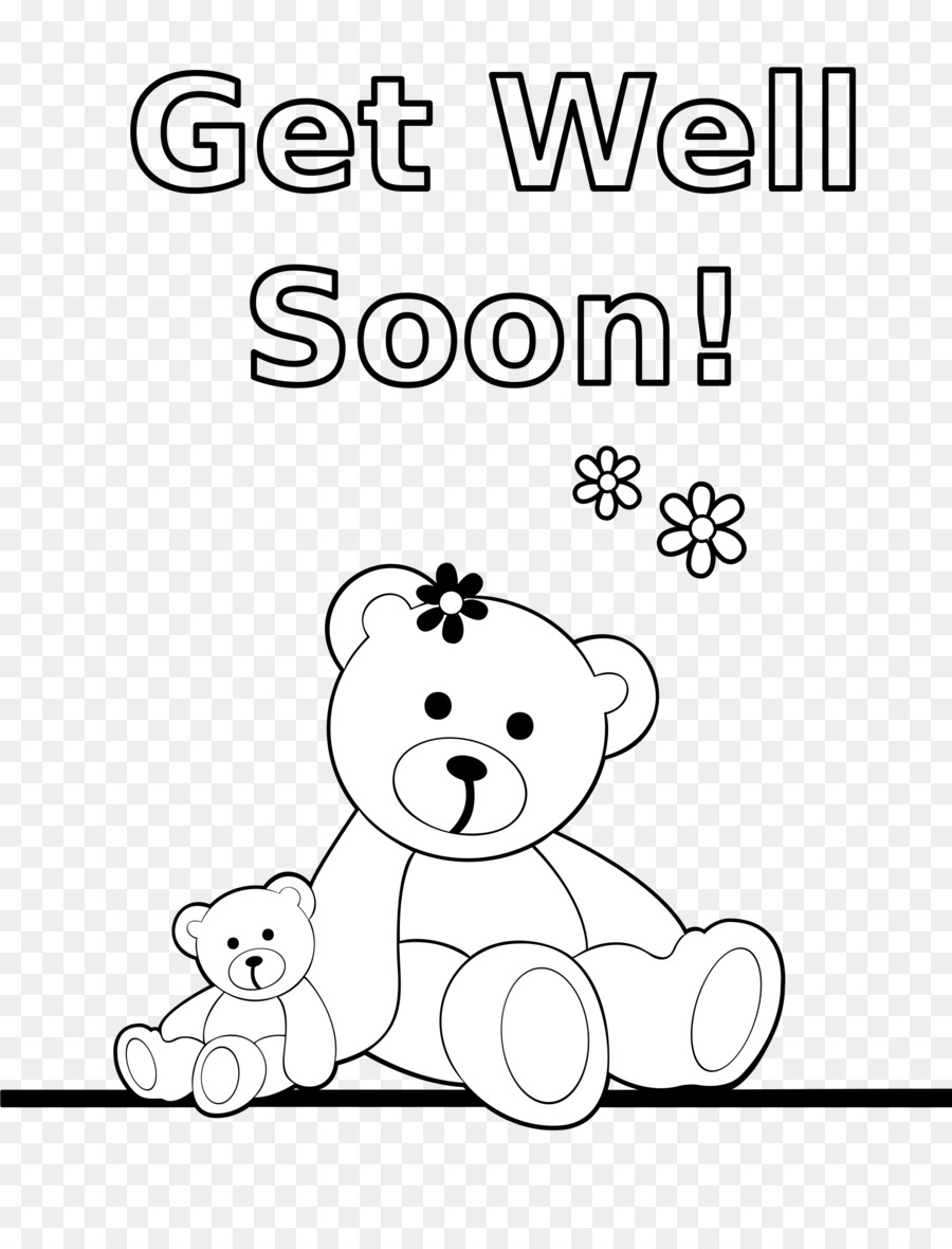 Get Well Soon Black And White & Free Get Well Soon Black And