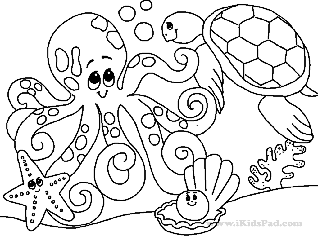 Coloring Pages For Under The Sea