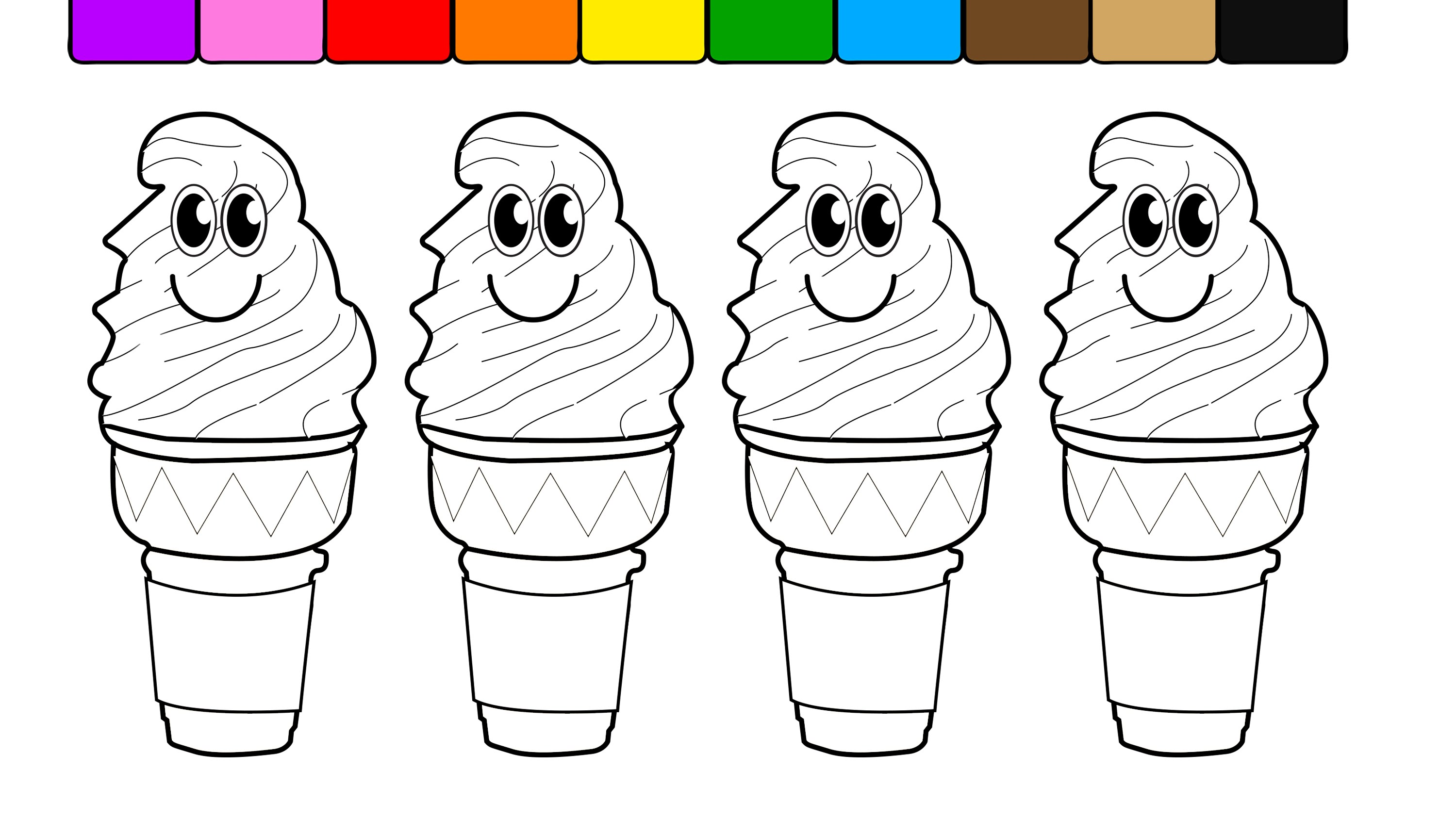- Coloring Pages Ice Cream Cones #1561026 - PNG Images - PNGio