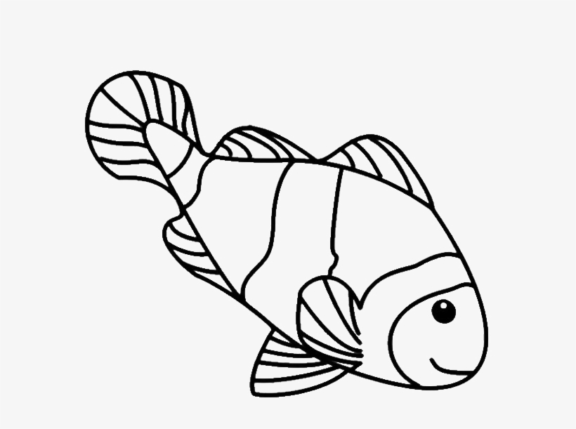 Goldfish Coloring Page Png - Coloring Pages Luxury Fish Drawings For Kids Simple - Clown Fish ...