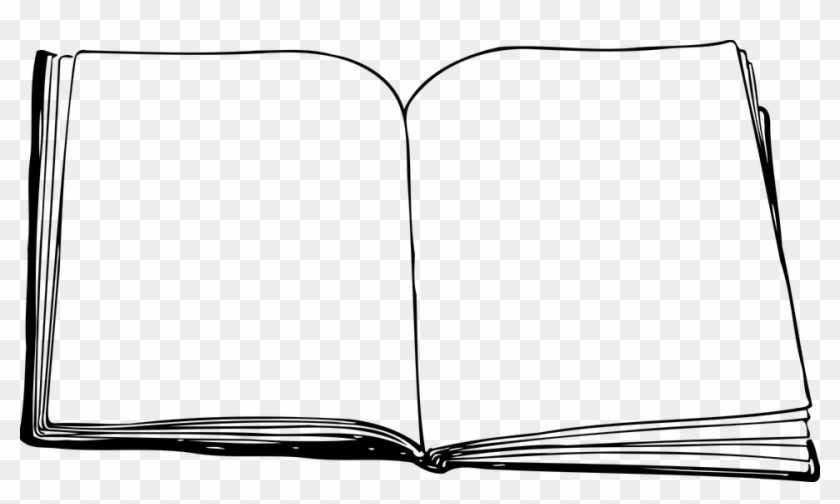 Open Books Png Black And White Free Open Books Black And White Png