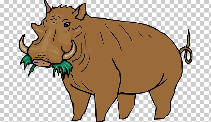 Common Warthog Png - Common Warthog PNG, Clipart, Carnivoran, Cartoon, Cattle Lik ...