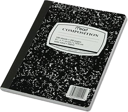 Composition Notebook Png Black And White Amp Free