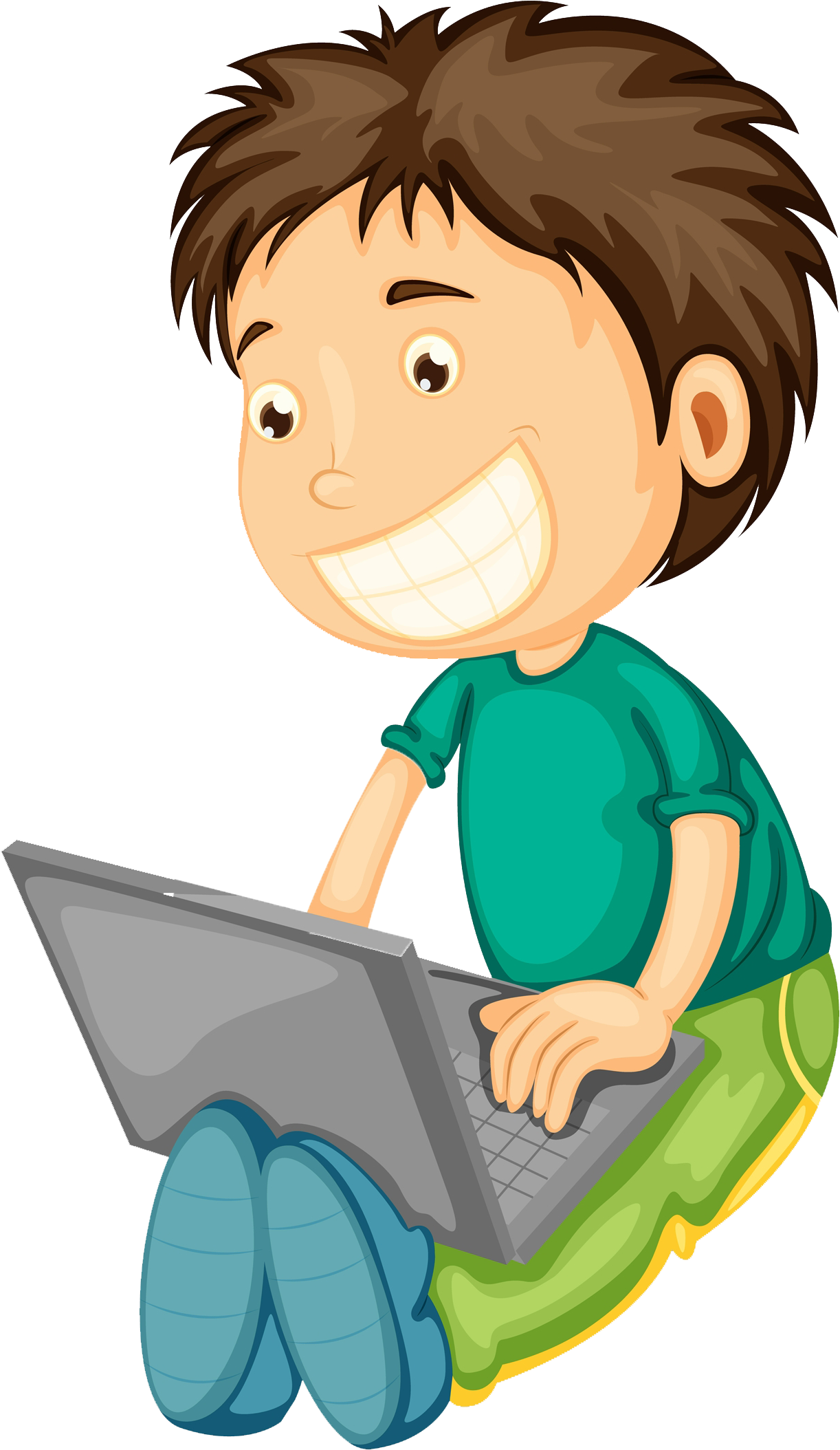 Computer Boy Png - Computer Boy Clipart - Boy And Girl On Laptop Clipart - Png ...