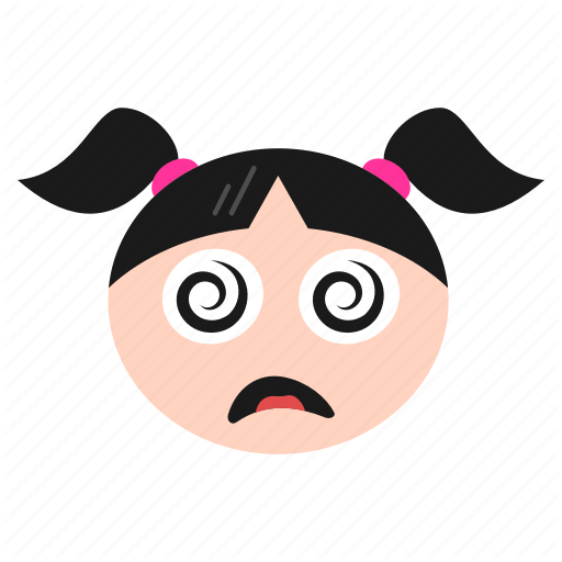 Silly Girl Face Png - Confused, dizzy, emoji, face, girl, silly, women icon