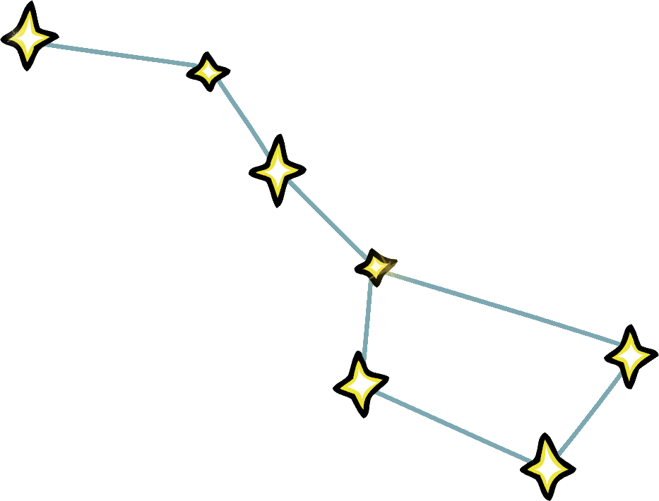Big Dipper Constellation Png - Constellation Ursa Major Transparent & PNG Clipart Free Download - YWD