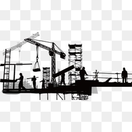 Construction Png - construction silhouette, Sketch, Building, Silhouette Figures PNG and Vector