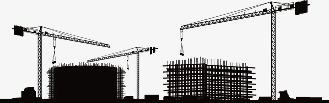 Construction Png - construction site silhouette, Factory, Construction Site, Building  Silhouette PNG and Vector