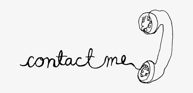 """Telephone Cord Png - contact Me"""" In Phone Cord Cursive - Contact Me With Questions PNG ..."""