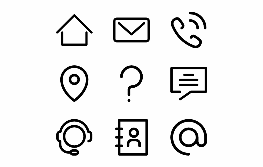 Contacts Icons For Resume Word Free Pn 1149637 Png Images Pngio