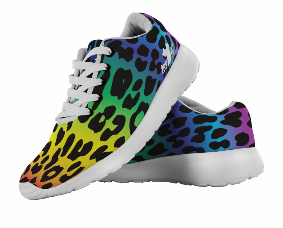 Rainbow Cheetah Png - Cool Cheetah Rainbow Pattern - Sneakers Free PNG Images & Clipart ...