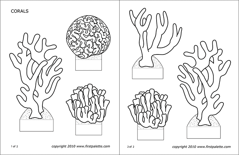 Coral Reef Diorama Png - Corals   Free Printable Templates & Coloring Pages   FirstPalette ...