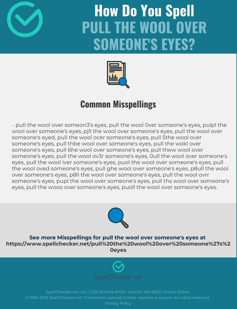 Wool Over Eyes Png - Correct spelling for pull the wool over someone's eyes ...