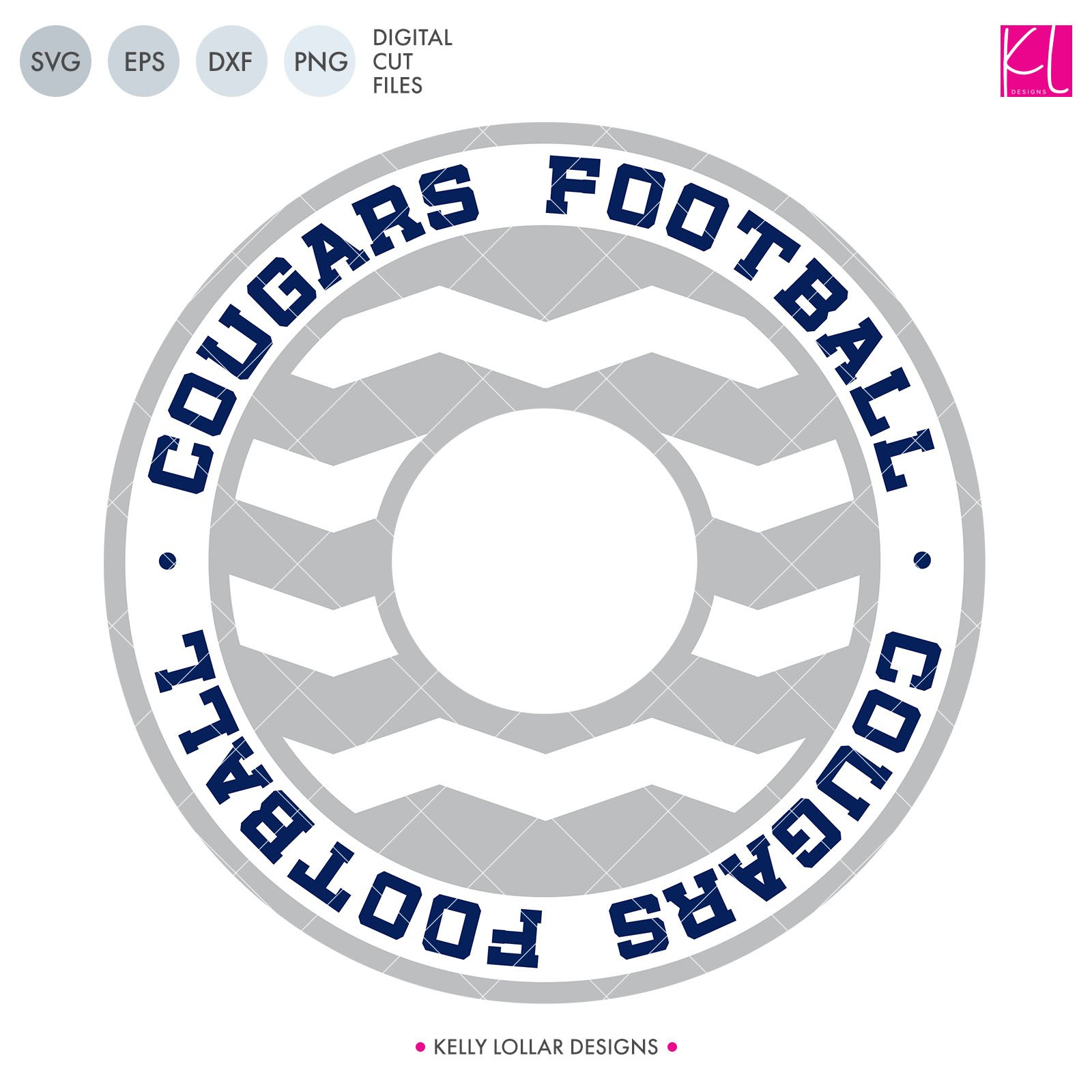 Cougars Football Chevron Monogram Frame 948032 Png Images Pngio