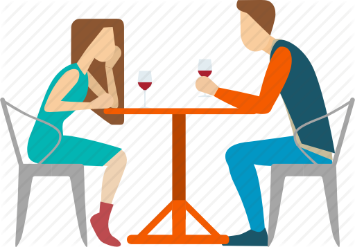 Dinner Date Png - Couple, date, dinner, dinning, lover, romantic, wine icon