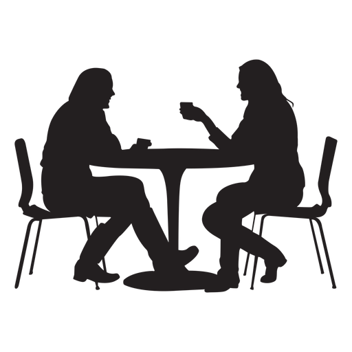 Table Silhouette Png - Couple sitting on dining table silhouette - Transparent PNG & SVG ...
