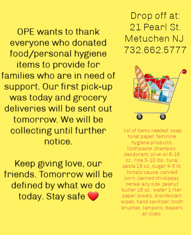 Nj Community Meals Png - COVID-19 How you can help our community — Olive Press Eatery