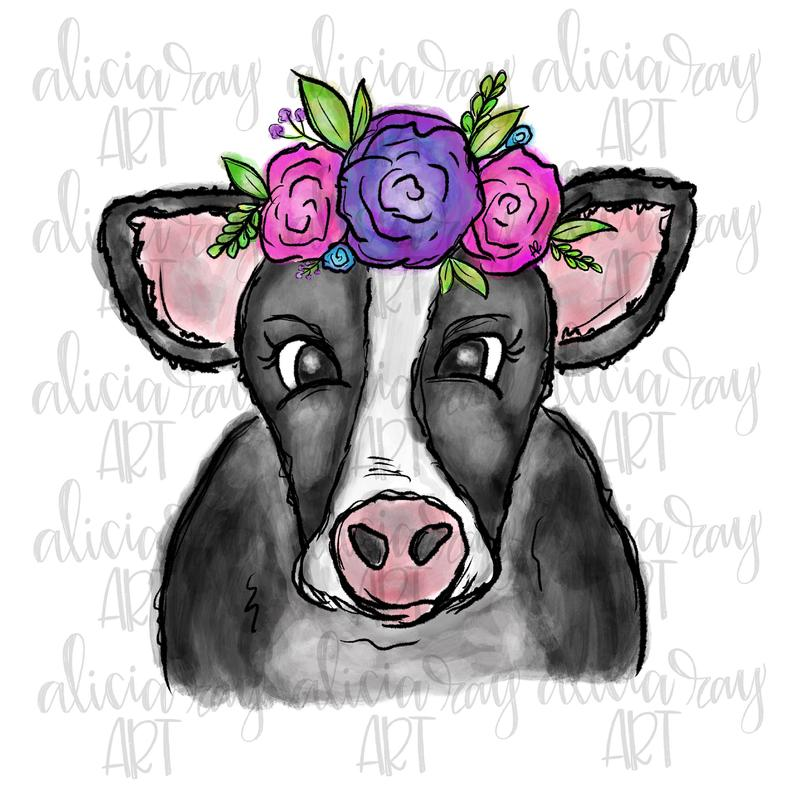 Cute Cow Png - Cow Sublimation PNG Design Cute Cow PNG Hand Drawn   PNGio