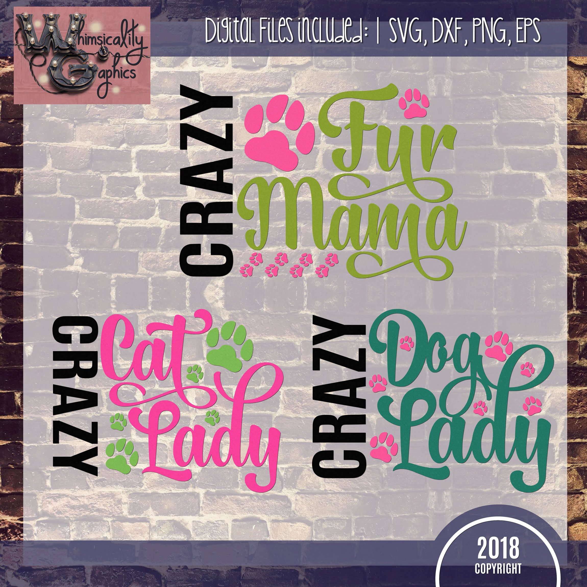 Crazy Cat Dog Fur Lady Mama Svg Dxf Pn 1049936 Png Images Pngio