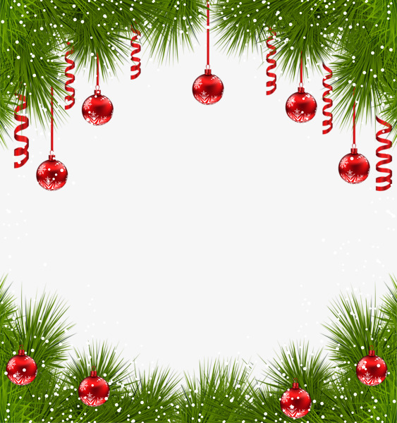 Christmas Borders Clipart.Creative Christmas Border Frame Lace 68842 Png Images