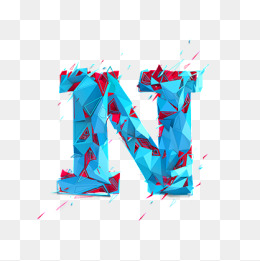 Creative Letter N Creative Letters Blu 4955 Png Images