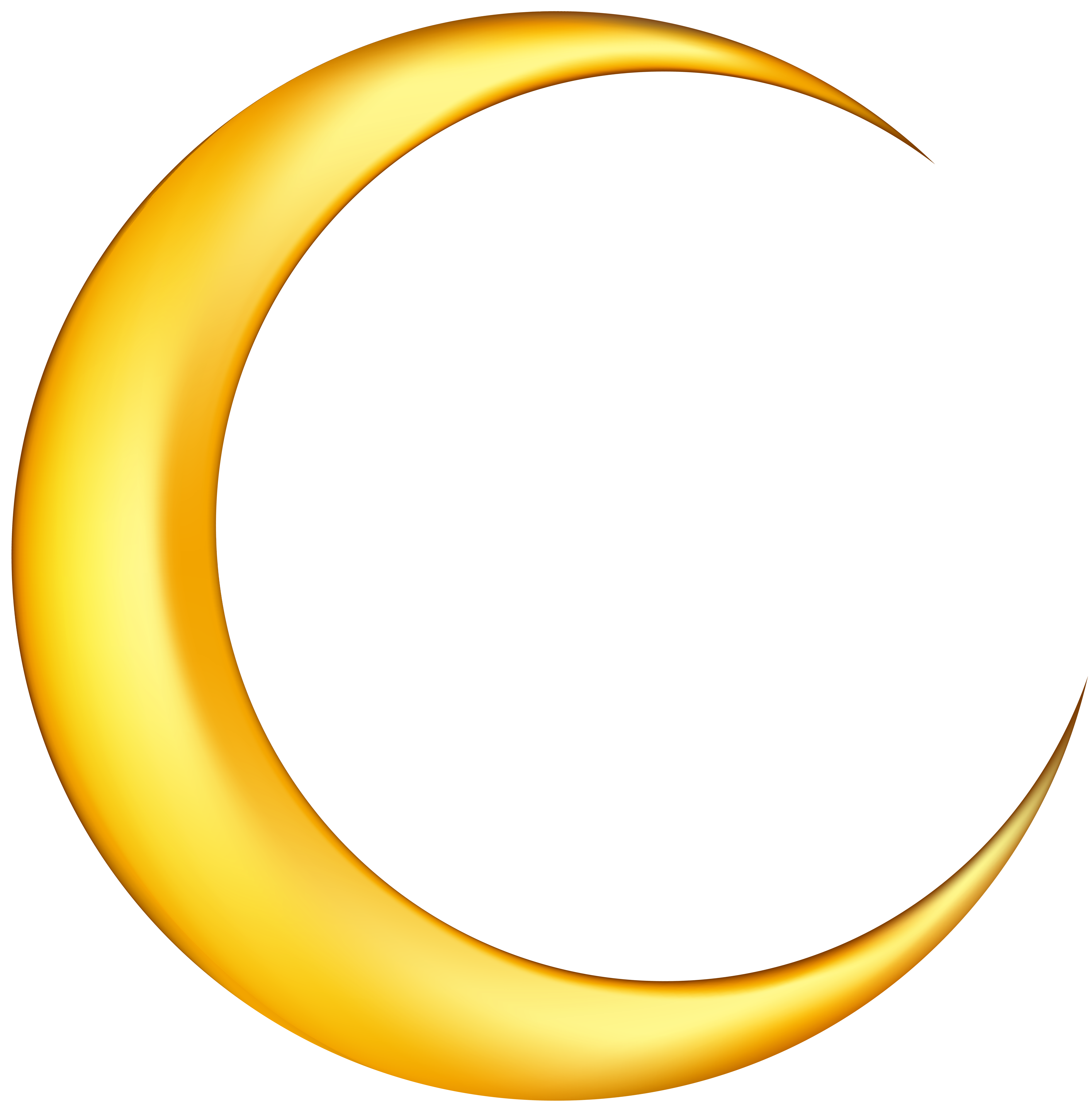 Yellow Crescent Moon Png & Free Yellow Crescent Moon.png ...