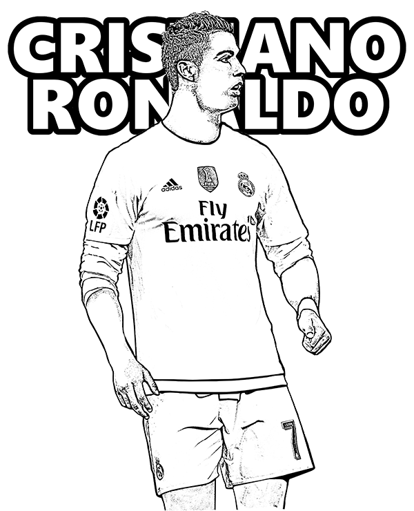 Cristiano Ronaldo Coloring Page Free P 2428367 Png Images Pngio