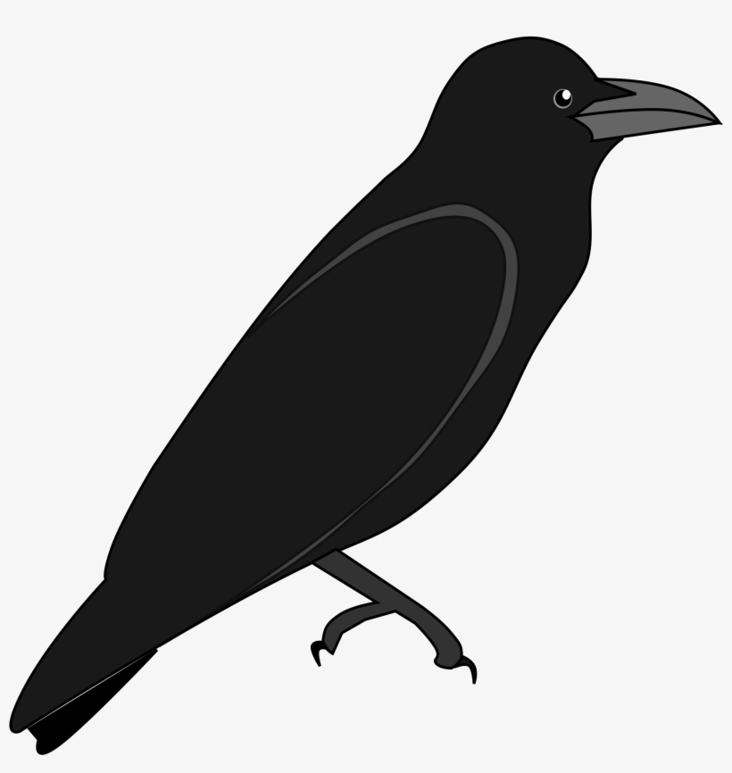 Crow Outline Png - Crow Png Library Black Thing Huge - Outline Of A Crow - Free ...